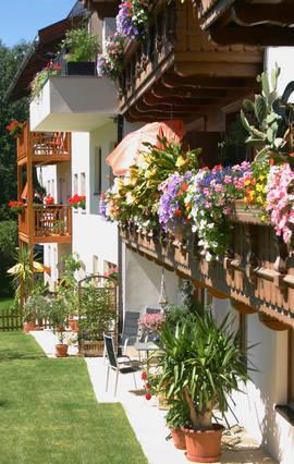 Appartements Via Claudia Augusta im Sommer